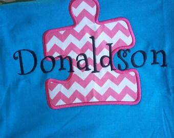 Personalized School Teacher Puzzle Piece shirt School teacher Shirt Autism Support Shirt