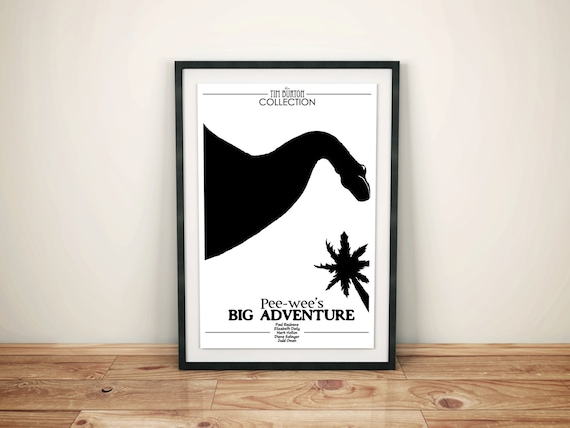 Where's My Bike // Pee-weeand#039;s Big Adventure Alternate Movie Poster // Dinosaur Park Monument with Palm trees Illustration