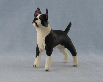 Boston Terrier Soft Sculpture Miniature Dog by Marie W. Evans