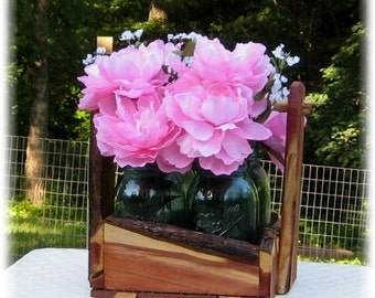 Rustic centerpiece wedding basket bridal shower home decor outdoor lodge cabin table display small garden berry basket cedar
