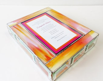 Stained Glass Keepsake Gift Box Bat Mitzvah Divided Jewely Box Custom Made-to-Order