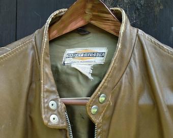Vintage Harley Davidson Cafe Racer Jacket