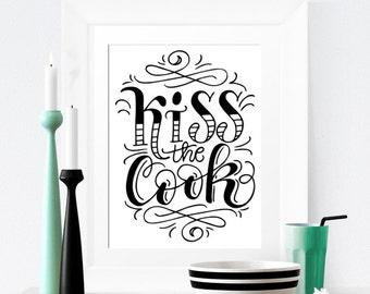 Art print  - Kiss the cook