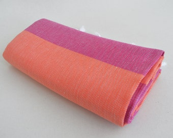 SALE 50 OFF/ Turkish Beach Bath Towel / Classic Peshtemal / Pink Coral / Wedding Gift, Spa, Swim, Pool Towels and Pareo