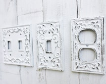 View Image  sc 1 st  Wall Plate Design & White Metal Light Switch Covers Brilliant Metal Switch Plates Wall ...