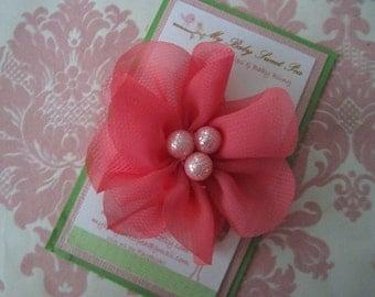 Girl hair clips - flower hair clips - girl barrettes