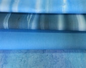 Sea or Water Cotton Fabric Hand Painted