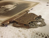 Vintage Book Clasp / Antique Brass Book Clasp / Mixed Media / Book Repair / Jewelry / Upcycle / Jewelry / Picture Clasp / Photo Holder 1882