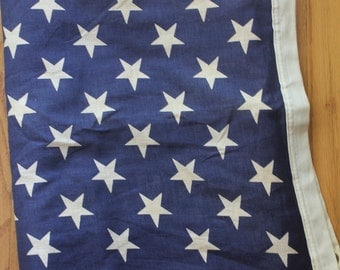 Vintage 50's Cotton Canton American 50 Star Flag