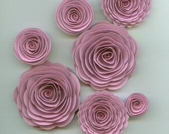 Hawaiian Pink Handmade Spiral Paper Flowers