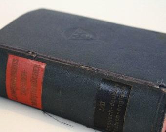 Vintage Langenscheidt's German Pocket Dictionary - 1929