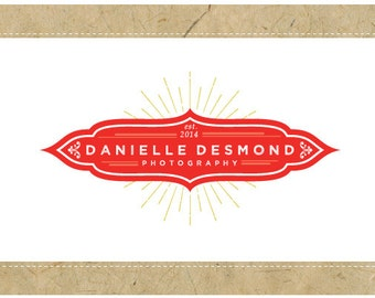 Custom Logo Design - PreDesigned Logo - PreMade Logo - Vector Logo - OOAK Logo - DANIELLE Logo Design - Vintage Logo - Vintage Branding