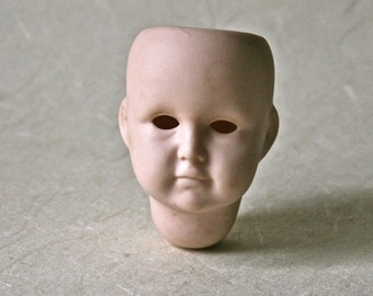 Sweet Small Porcelain Bisque Doll Head for Doll Making and Repair