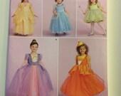 New Uncut Simplicity Princess Cinderella Halloween Costume Pattern Girls Size 3-6  1303 BB girls