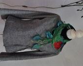nuno pongee silk felted short scarf neckpiece