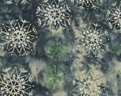 Cotton Batik-Snowflakes-1/2 Yard
