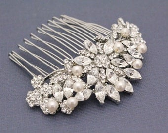 Vintage Inspired Bridal hair comb Wedding hair jewelry bridal hair accessories wedding hair comb bridal hair jewelry wedding jewelry bridal