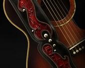 Leather Guitar Strap: Valkyrie-PyreGuitar Strap