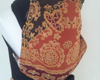 MEI TAI Baby Carrier / Sling / Reversible/ Imperial Delights with Black in straight cut model