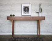 Solid Walnut Console Table - 3 Drawers