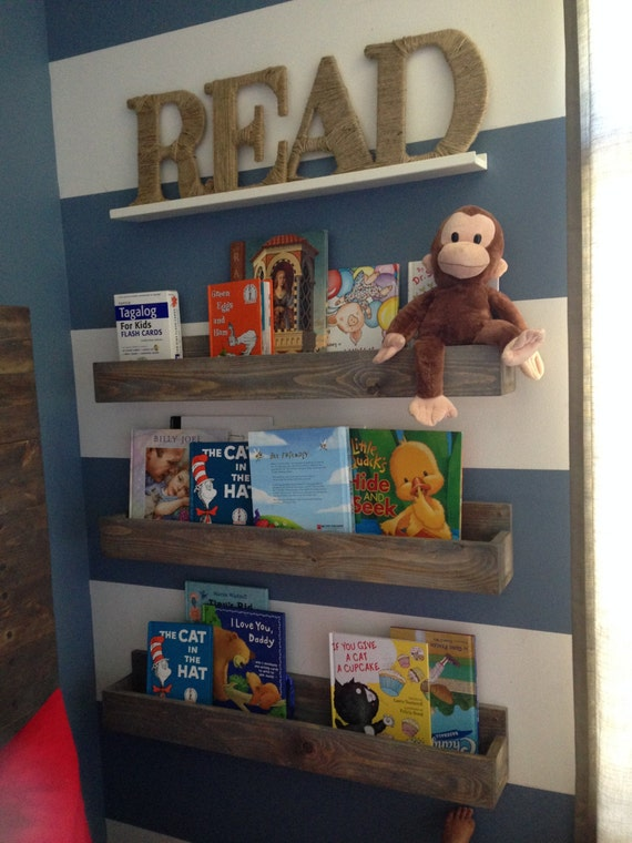 Single 24 inch Children's Book Shelf, Wall Book Shelf,Shelves, Reading Book Shelf, Rustic Shelf, Nursery Shelf, Floating Shelf, Spice rack,