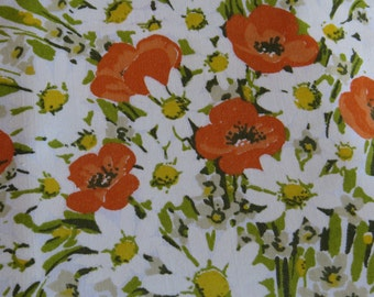Vintage Morgon Jones- Twin Flat Sheet or Material for Decor ~ Crisp Excellent Condition