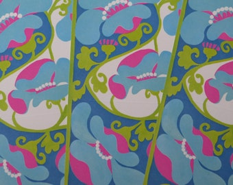 Vintage 70's Current Just A Notes x3 ~ Semi-Psychedelic ~ Blue & Magenta
