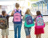 Back to School Monogrammed Back Pack