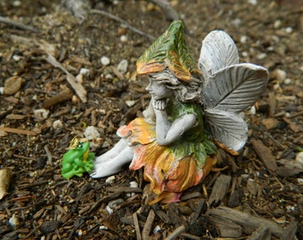 Fairy Garden Accessories Fairies Fairy and her Frog Prince Miniature Accessories
