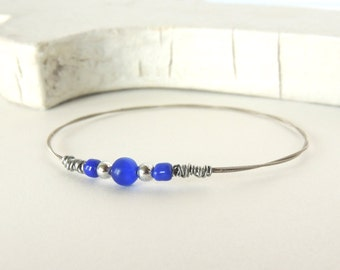 GUITAR STRING BANGLE - Royals guitar string bracelet - Size S -  for teens and adults - recycled/upcycled jewelry - under 15.00