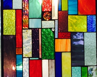 Stained Glass Panel 60th Birthday Gift