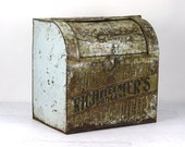 Antique Coffee Bin / Antique Coffee Advertising / Coffee Metal Storage Container