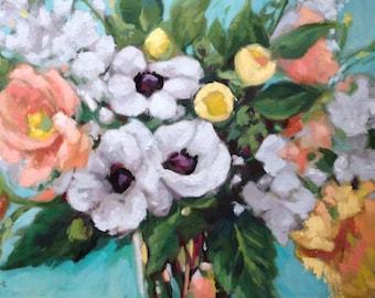 Garden Bouquet - original oil painting - 20 x 30