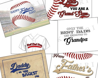 Father's Day Cards - baseball cards - digital - printable