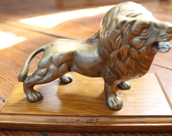 Hear me Roar... Vintage Brass Lion