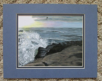 Romance on the Cliffs - Print of original painting