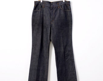 FREE SHIP  vintage 60s Levi's Big E Sta Prest denim trousers, 38 x 30