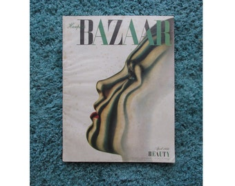 1946 Harpers Bazaar Magazine, 244 pages of Advertising and editorial Illustrations, including Erte, Avedon, Horst, and Dahl - Wolf