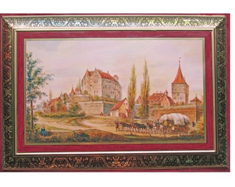 Collectible German Cookie Tin by Otto Schmidt  with French Embroidery Thread