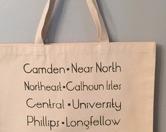 Minneapolis Communities Tote - mid font