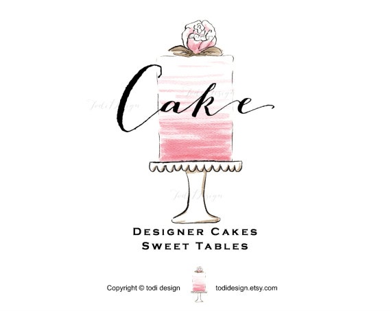 Cake Decorating Logo Designs : Cake OOAK PreDesigned Logo Design Cake Design French