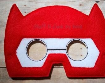 Armor Hero mask, Puffy Hero Helmet Mask, read and white hero mask, Children's mask