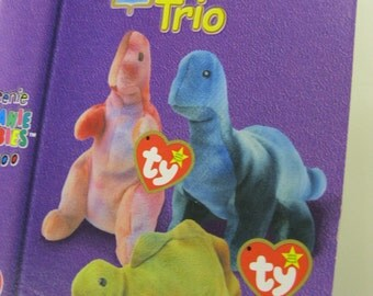 Childhood Memories Vtg. NIP Complete Set Dinosaur Trio Orig. McDonalds Ty Teenie Beanie Babies Collection TIME to Introduce to Your Child