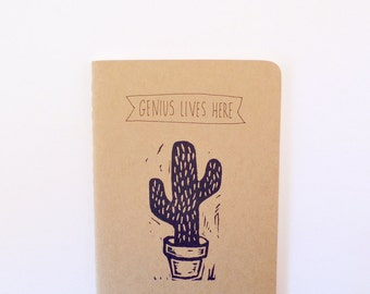 Back to school notebooks Cactus notebook, moleskine notebook, cactus journal, blank notebook, pocket notebook writing journal cute notebooks