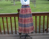 Vintage Hippie Woodstock Drawstring Skirt