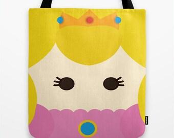 Princess Peach, tote bag, bag, Mario