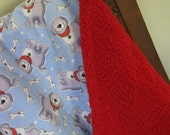 Soft Baby Blanket- Flannel/Ultra Cuddle Fabric- Baby/Toddler Blanket