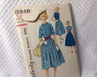 Vintage Simplicity pattern 2348, 50's skirt and blouse