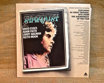 STARDUST - Starring David Essex, Adam Faith, Larry Hagman, Keith Moon - Original Soundtrack - 1975 Vintage Vinyl Gatefold 2 lp Record Album