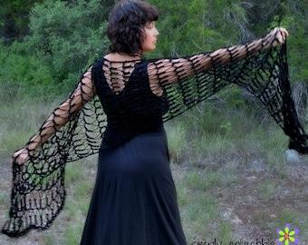 Crochet Shawl Pattern - Crochet Pattern Flirty Shawl - Written Pattern PDF